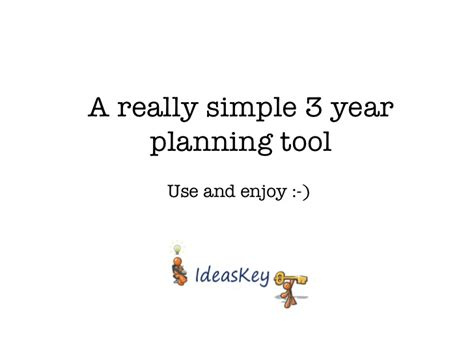 Really Simple 3 Year Plan Template Three Year Plan Template