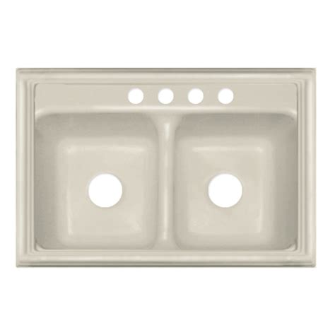 Acrylic Kitchen Sinks Shop Corstone Jamestown Basin Drop In Acrylic Kitchen Sink At Lowes