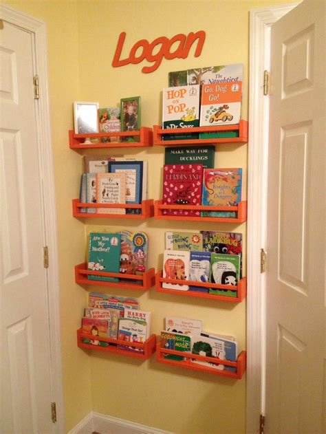ikea spice rack book shelves nursery