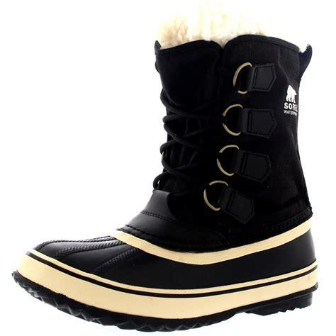 snow boots uk womens sorel winter carnival duck snow winter wool