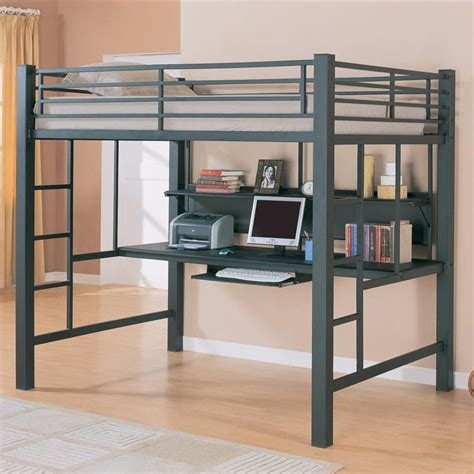 Red Comforter Bunk Beds Children And Full Size Loft Bed Bunk Bed With Computer Desk