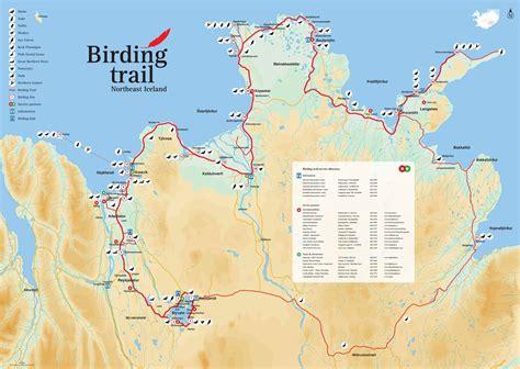 birding iceland interactive birding iceland map