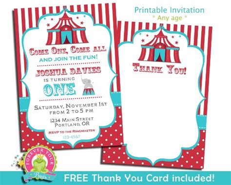 carnival birthday party invitations gangcraft net