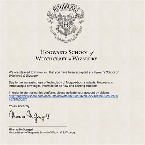 Acceptance Letter For Hogwarts School Of Witchcraft And Wizardry You Can Now Attend Hogwarts School Of Witchcraft And