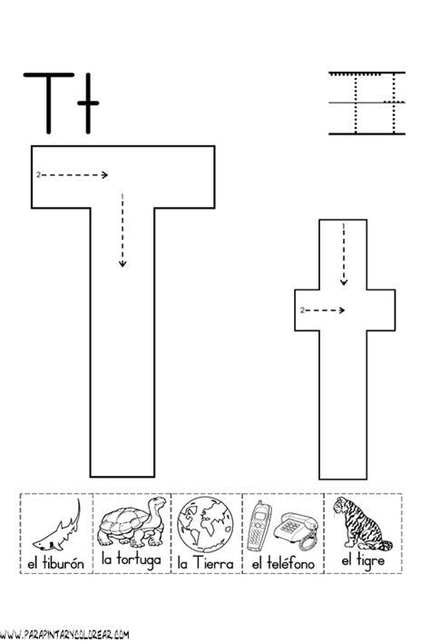 imagenes que empiecen con la letra t para colorear el abecedario dibujos para colorear ciclo escolar