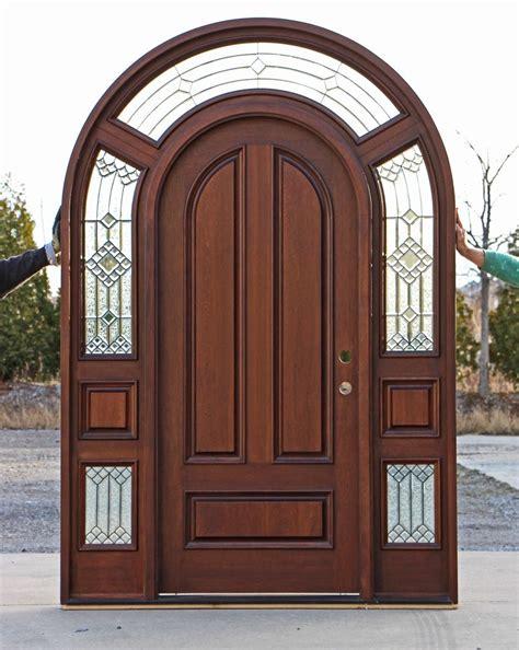 mahogany  top exterior doors doors
