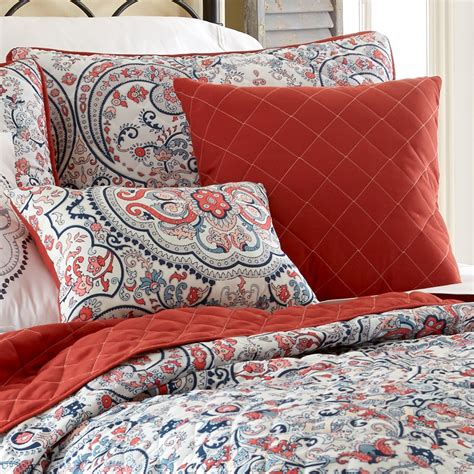 rust coverlet amrapur overseas 6pc quilted coverlet set rust red white