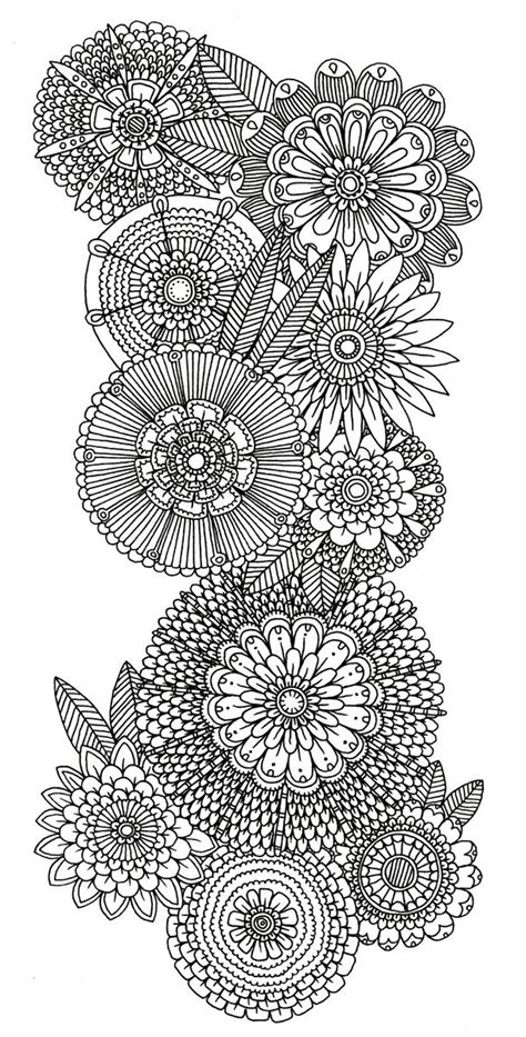 flower doodle coloring pages abstract doodle flower coloring pages colouring