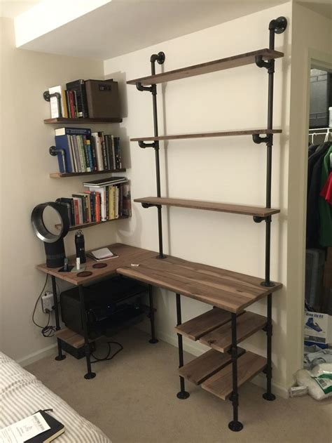 Shelving With Desk by 25 Best Ideas About Pipe Desk On Industrial