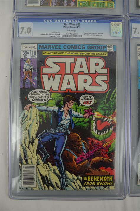 cgv gading lot detail collection of 6 cgc graded star wars comic books