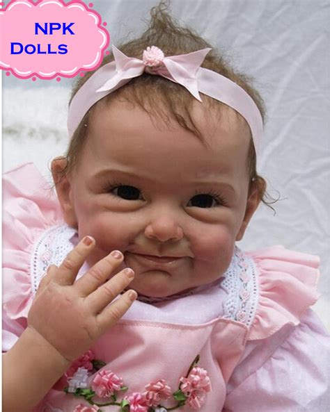 Pink Baby Doll Diskon 2017 new npk silicone reborn baby dolls in pink about 22