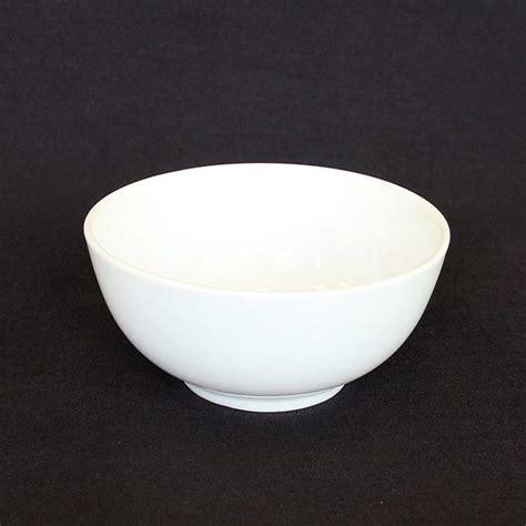 small  plain white porcelain bowl oz party time rentals