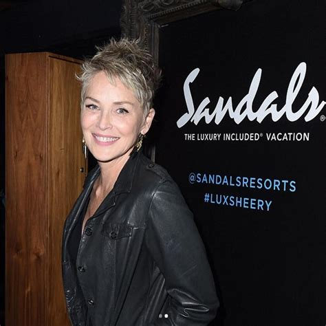 sharon stone breaking news and opinion on the huffington sharon stone unveiled her new pixie crop this weekend beauty