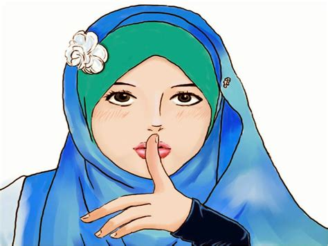 wallpaper cantik animasi gambar wallpaper kartun berhijab gudang wallpaper