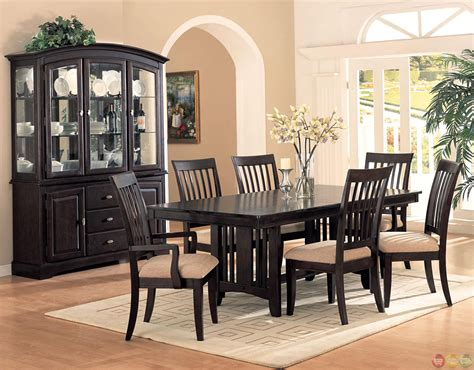 Cappuccino Dining Room Furniture Monaco Cappuccino Finish Casual Dining Room Set