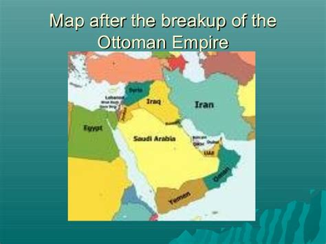 the breakup of the ottoman empire ottoman empire