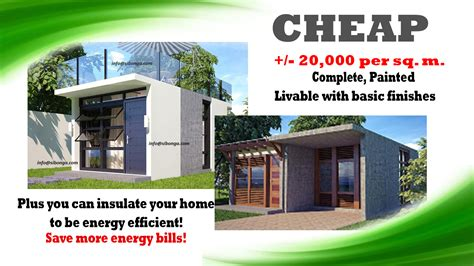 how to build an affordable home low cost bungalow house plans philippines