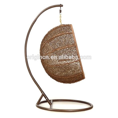 basket chair swing coconut shaped outdoor patio hanging basket summer rattan