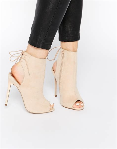 asos east town peep toe shoe boots in lyst