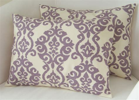 Two Pillows by Lilac Purple Pillow Covers Set Of Two Lumbar Pillows