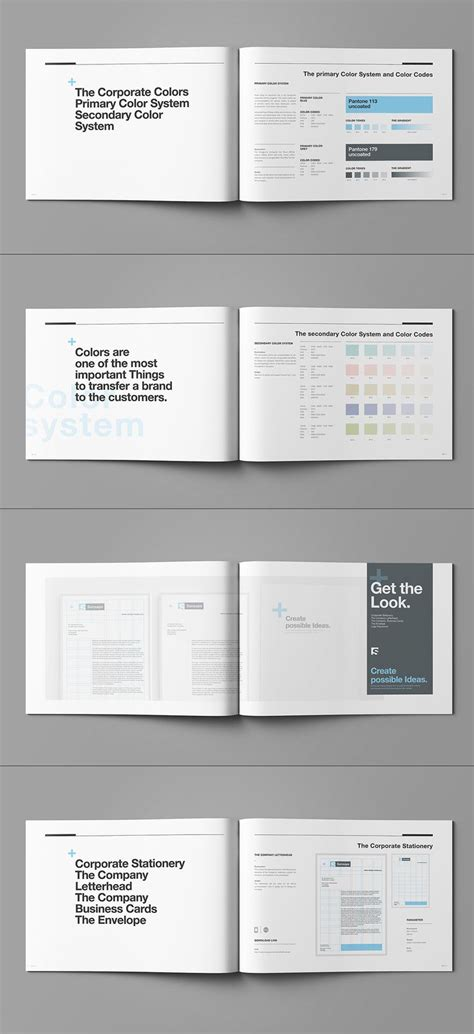Inspiratie Huisstijlboek Corporate Branding Pinterest Brand Manual Adobe Indesign And Style Guide Template Indesign