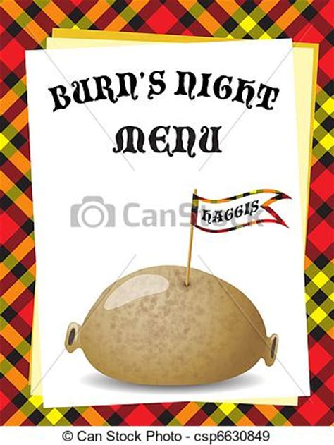 burns menu template eps vectors of burn s menu a menu template for a
