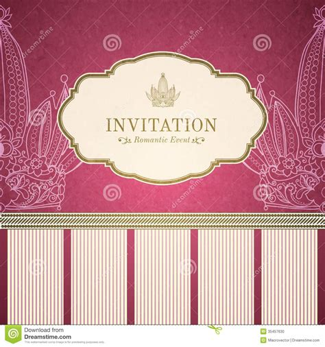 invitation illustrator template retro princess invitation template stock photo image