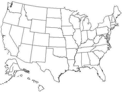 printable us map test best photos of large blank united states map blank