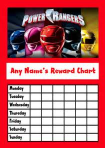 10 best images of power rangers free printable chore chart