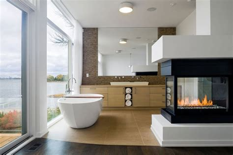 fireplace in bathroom 25 bathroom fireplaces that make any bath a wow therapy
