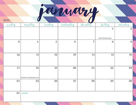 printable calendar girly free printable 2016 calendars oh so lovely blog