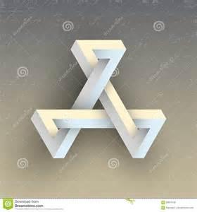 unreal impossible geometric figure vector element