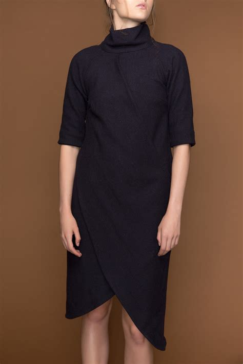 double drape ajaie alaie double drape dress garmentory
