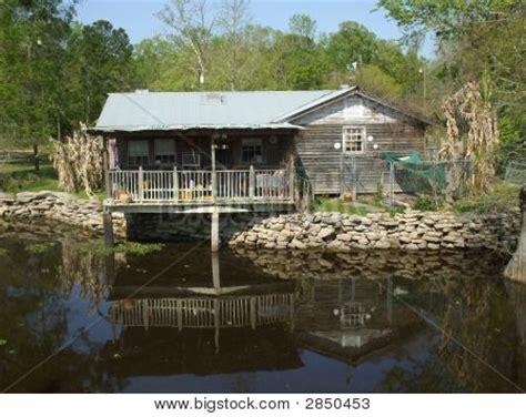 cabin on alligator bayou stock photo stock images bigstock