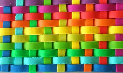 happy colours basket weave colors of the rainbow