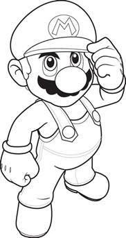 Printable Super Mario Smash Bros Coloring Pages  Eden Escape sketch template