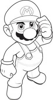 mario coloring pages black white super mario