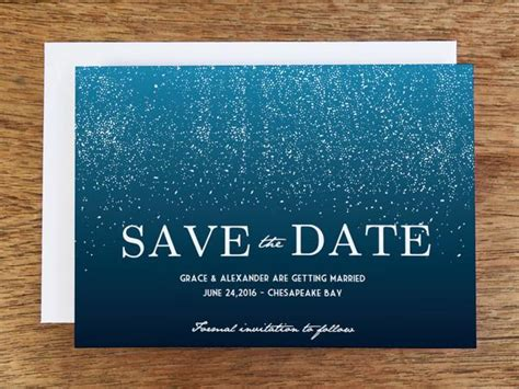 Printable Save the Date   Starry Night ? e.m.papers