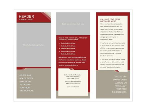 brochure templates free download for microsoft word free word
