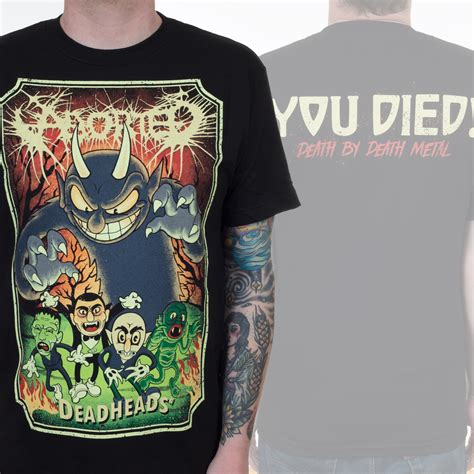 aborted goremageddon zip aborted quot deadheads color quot t shirt aborted