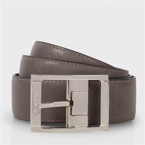 paul smith s black and brown reversible leather belt