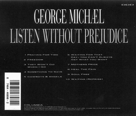 Cd George Michael Listen Without Prejudice george michael listen without prejudice vol 1 cd free shipping usa