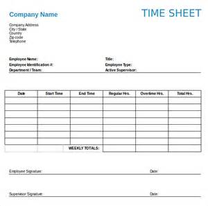 Timesheet Template by 12 Weekly Timesheet Templates Free Sle Exle