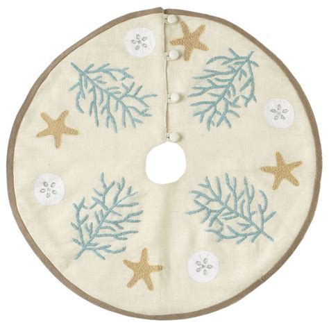 beach themed tree skirt nautical tree skirt table top new style tree skirts dallas by wisteria