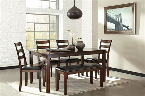 6 piece dining room sets coviar brown 6 piece dining room set d385 325 ashley