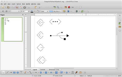 libreoffice draw gallery themes network menggambar diagram komputer dan jaringan libreoffice draw