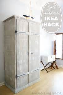 ikea wardrobe shelves ikea hack whitewashed fjell wardrobe with pallet shelves
