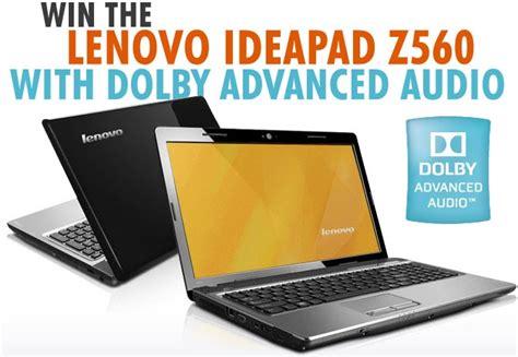 Laptop Lenovo Dolby Win The Lenovo Ideapad Z560 Laptop With Dolby Advanced Audio
