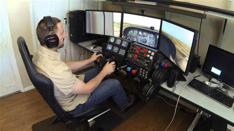 Gaming Setup Simulator by X Plane Simulator With Trackir And Saitek Cessna Pro