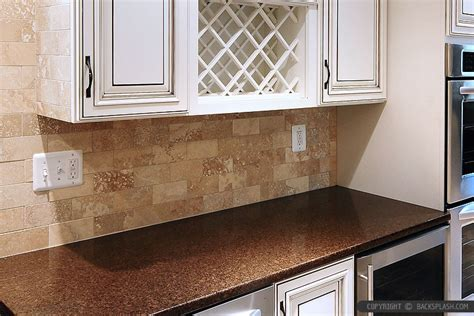 kitchen countertop backsplash ideas travertine subway backsplash brown countertop backsplash